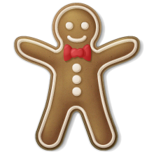 Someone sent you a tasty Gingerbread Man!